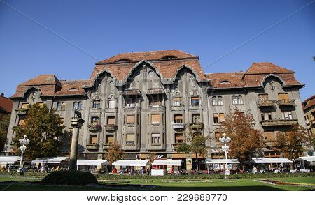 Timisoara, Romania - September 08, 2017:  Dauerbach Palace On September 08, 2017 In Timisoara.