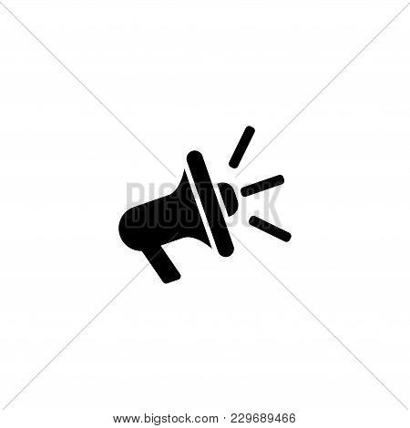 Loudspeaker Vector Icon. Simple Flat Symbol On White Background