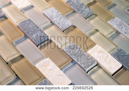 Mesh-mounted Mosaic Glass And Stone Tiles For Kitchen And Bathroom Walls And Backsplashes