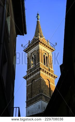 Tower Of The Church Santa Maria Della Pace In Rome, Italy