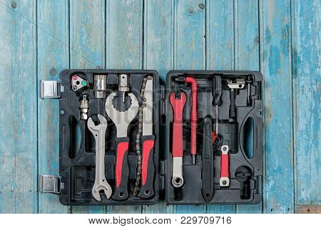 Set Of Bicycle Tools, Tools Boxes Service