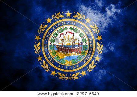 New Hampshire State Grunge Flag, United States Of America