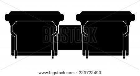 Isolated Bongos Drum Icon. Musical Instrument. Vector Illustration Design