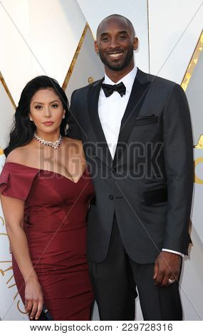 Kobe Bryant and Vanessa Bryant at the 90th Annual Academy Awards held at the Dolby Theatre in Hollywood, USA on March 4, 2018.
