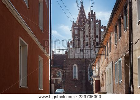 View Of The Church Of St. Great Martyr George The Victorious In Pravdinsk (friedland) From Old Narro