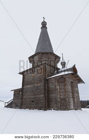 Semenkovo, Vologda Region, Russia - February 11, 2018: St. George Church In The Architectural And Et