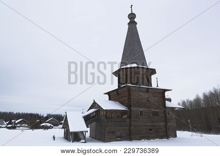 St. George's Church In The Architectural Ethnographic Museum In The Village Of Semyonkovo, Vologda R