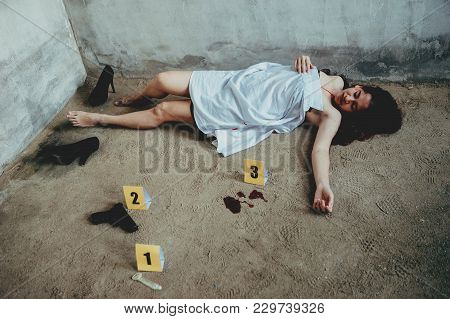 An Office Girl Or Woman Was Raped And Killed By Thief Or Robber In An Abandon House.