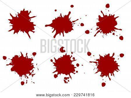 Vector Red Color Paint Splatter,splatter Pack Collection,illustration Vector Design