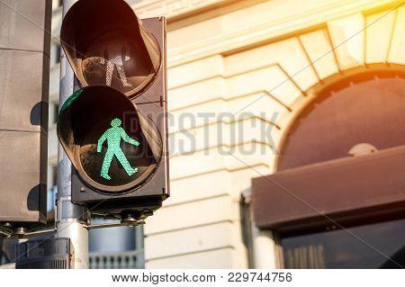 A Traffic Light For Pedestrians, Green Signal