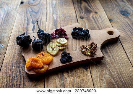 Prunes And Dried Apricots Raisins Cranberries Walnuts