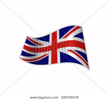 The Uk Flag. Vector Illustration Of The Country Great Britain. United Kingdom.
