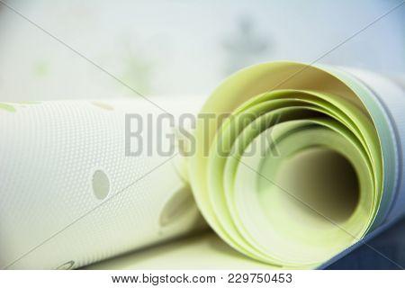 Two Rolls Of Vinyl Wallpaper For Room Repair