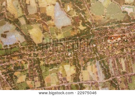 Model Of Aerial Photograph