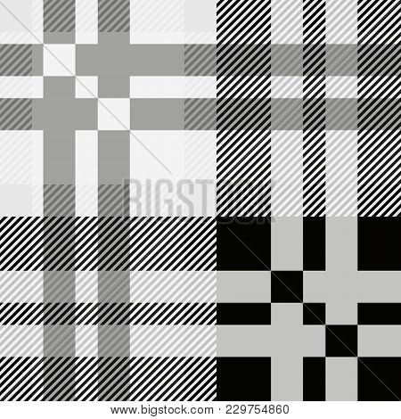 Seamless Tartan Plaid Pattern. Fabric Pattern. Checkered Texture For Clothing Fabric Prints, Web Des
