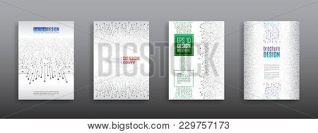 Circuit Board Background For Magazine Cover. Technology Communication Element For Brochure.  Futuris