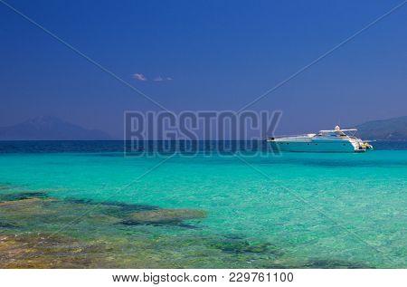 Sea shore at sunny summer