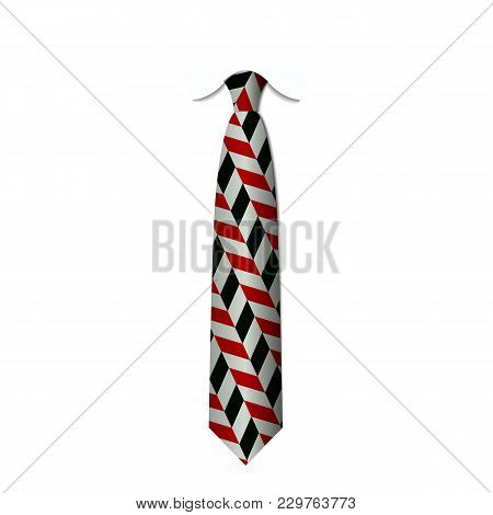 Red And Black Ties Isolated On White Background Vector