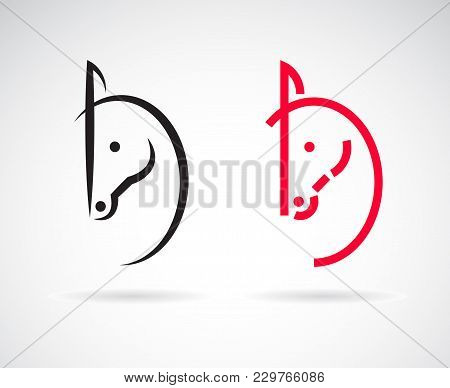 Vector Of Horse Head Design On A White Background. Wild Animals. Easy Editable Layered Vector Illust