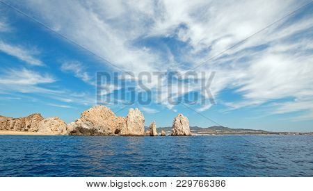 Lands End As Seen From The Pacific Ocean At Cabo San Lucas In Baja California Mexico Bcs