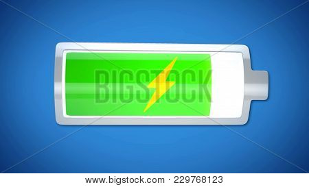 Almost Finished Battery Charging, Energy Supply, Short Lifespan Of Electronics, Stock Footage