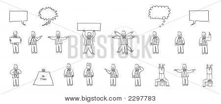 Cartoon Action Human