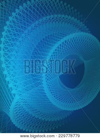 Abstract Background With Futuristic Surface. Sci-fi Geometric Design. 3d Rendering