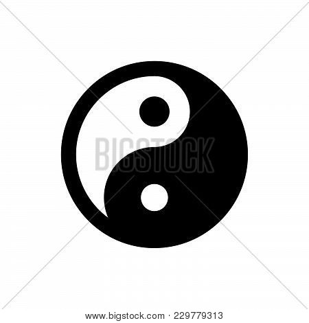 Ying Yang Icon Isolated On White Background. Ying Yang Icon Modern Symbol For Graphic And Web Design