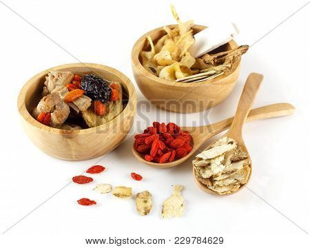 Chinese Herbal On White