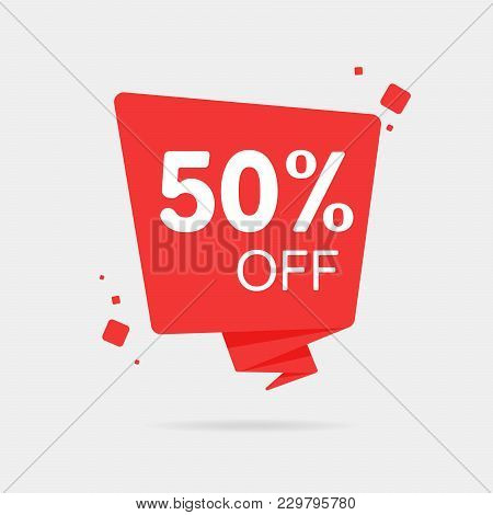 Special Offer Sale Red Tag Isolated Vector Illustration. Discount Offer Price Label, Symbol For Adve