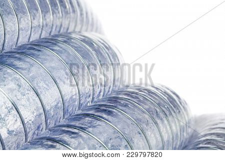 detail of transparent coiled pvc pipe background