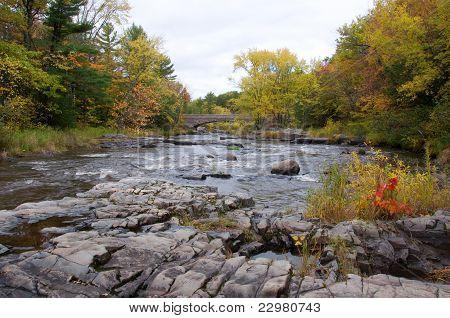 Northwoods River in Autumn