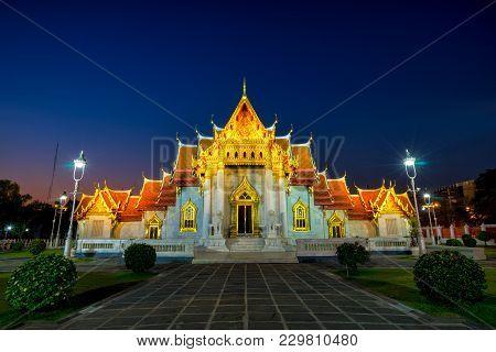 Wat Benchamabophit Dusitwanaram Is A Buddhist Temple (wat) In The Dusit District Of Bangkok, Thailan