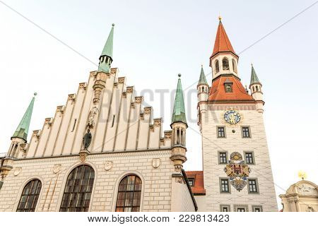Famous Munich church at the marienplatz - Germany