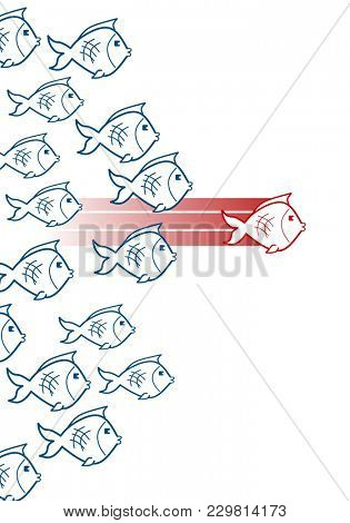 Fish leadership concept