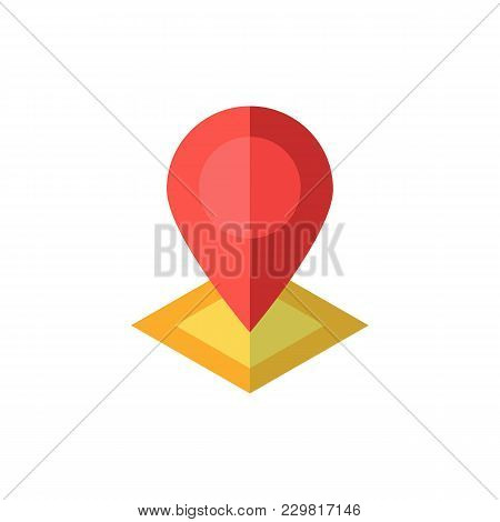 Location Icon Flat Symbol. Isolated Vector Illustration Of  Icon Sign Concept For Your Web Site Mobi