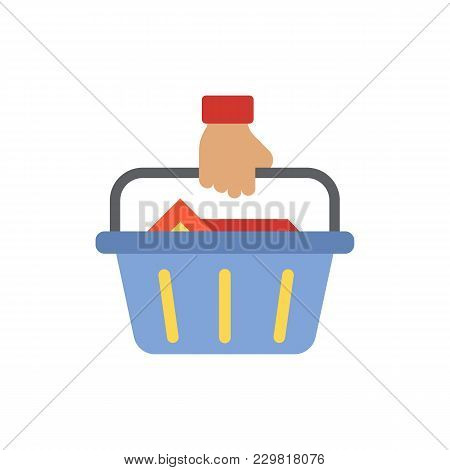 Buyer Icon Flat Symbol. Isolated  Illustration Of  Icon Sign Concept For Your Web Site Mobile App Lo