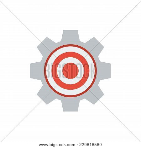 Target Icon Flat Symbol. Isolated Vector Illustration Of Targeting Sign Concept For Your Web Site Mo