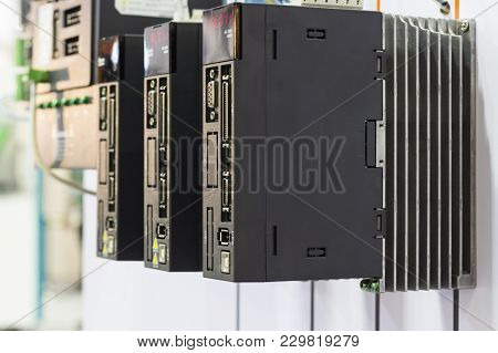 The Plc Controller For Industrial Machine ; Close Up