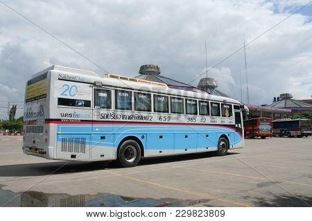 Benz Bus Of Nakhonchai Air. Route Chiangmai Pattaya And Rayong.