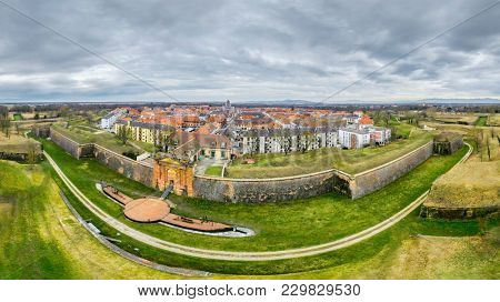 A panoramic view of Neuf Brisach Alsace France