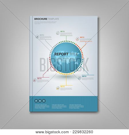 Brochures Book Or Flyer With Info Graphic On The Cover Vector Eps 10