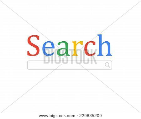 Search Browser Window Isolated On Background. Search Bar. Vector Illustration