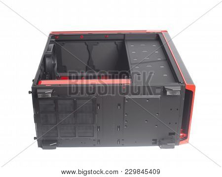 Desktop Empty Computer Case Isolated On White Background