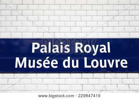 Paris, France - January 24, 2018: Detail From Louvre Museum In Paris, France. Nearly 35,000 Objects