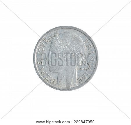Obverse Of Vintage Coin Made By France 1958