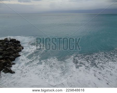 An Amazing Caption Of The Sea From The Ligurian Sea In Winter