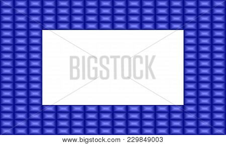 Vector Illustration Of A Blue Sapphire Frame. Good For Stationary And Scrapbooking. Square Pattern.