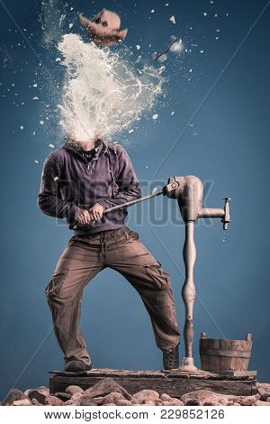 Head Exploding Becouse Of The Pressure Of The Water.