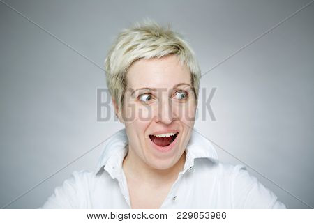 Happy middle-aged woman